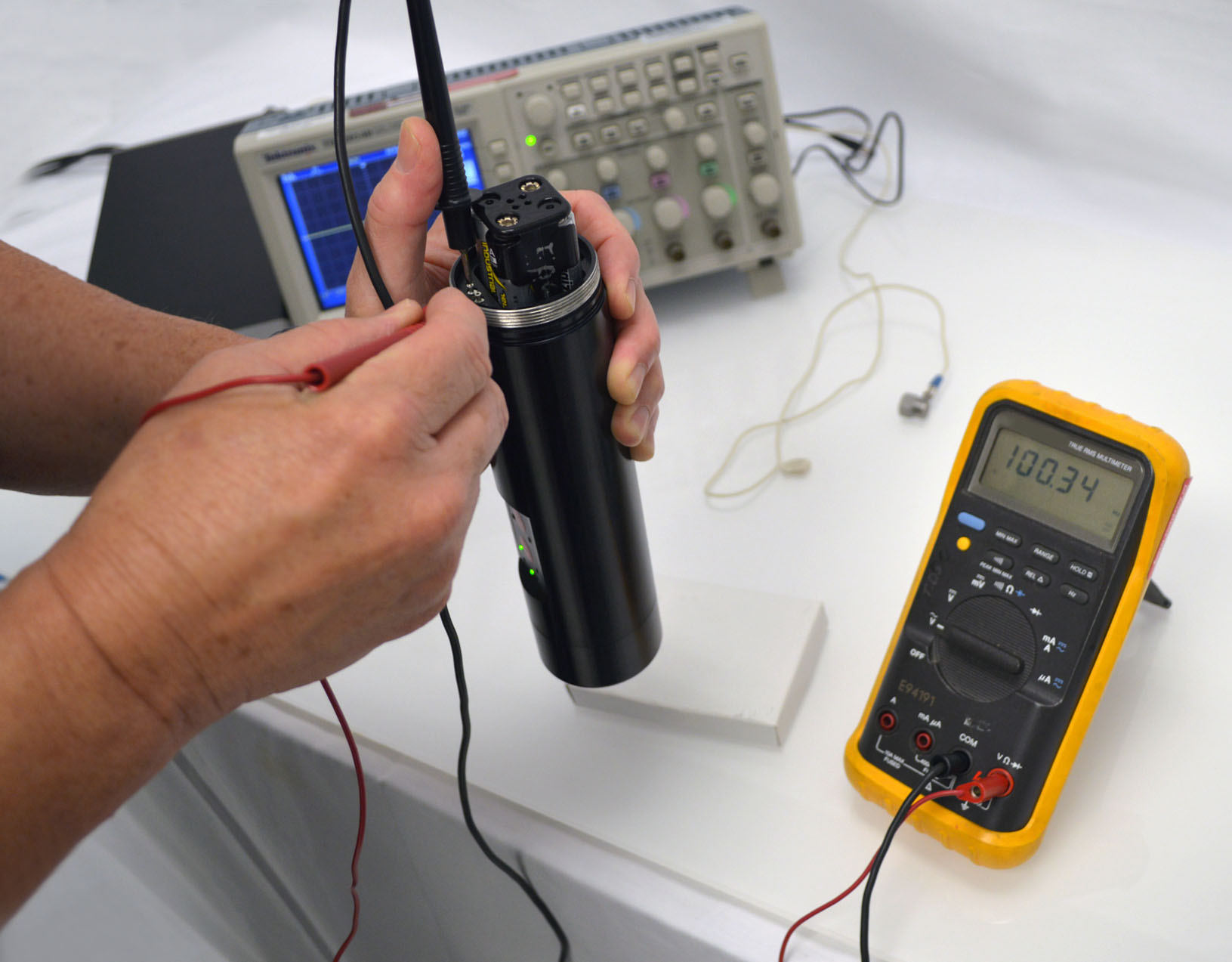 Attaching calibration test probes