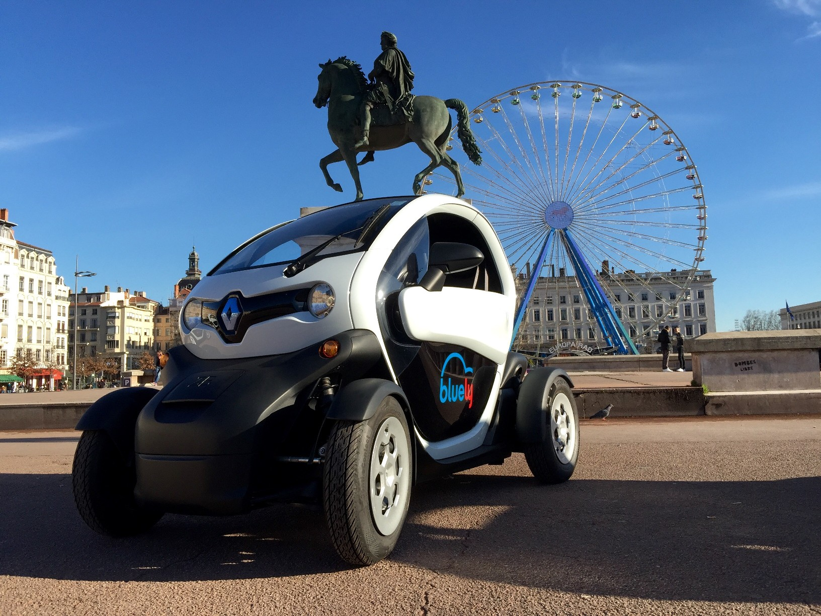 Electric Renault Twizy used in Lyon car sharing scheme