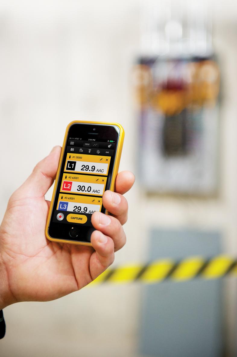 Fluke smart phone app for test tool monitoring