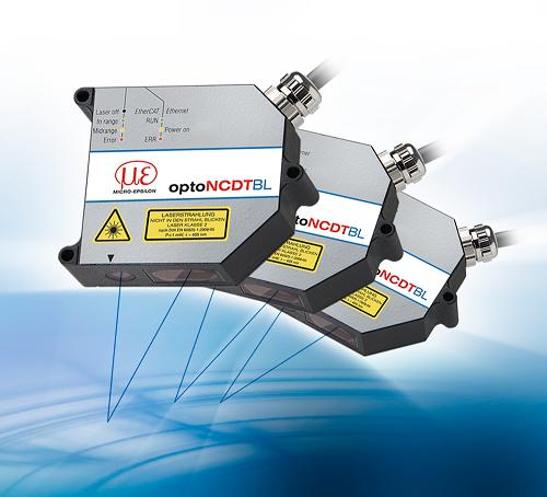 High speed blue laser measurement sensors