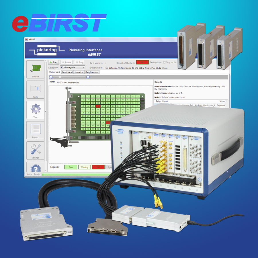eBirst switching system test tools