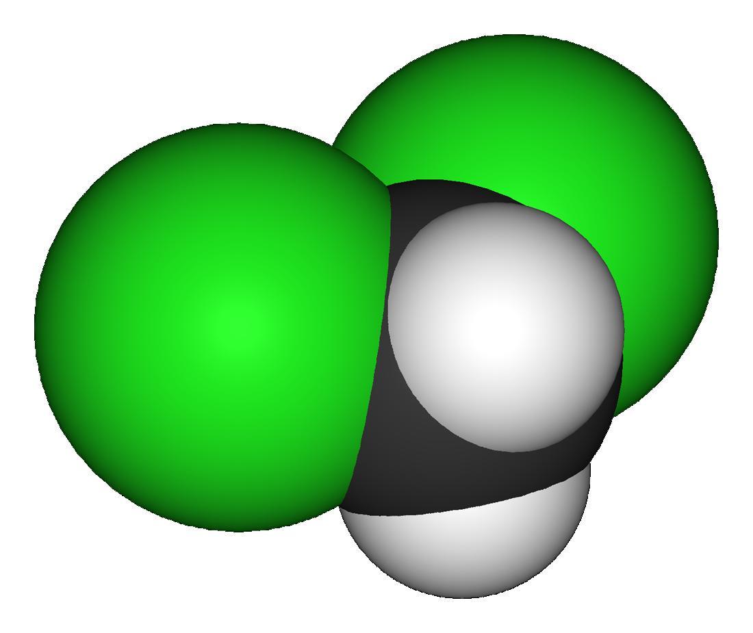 3D model of dichloromethane molecule