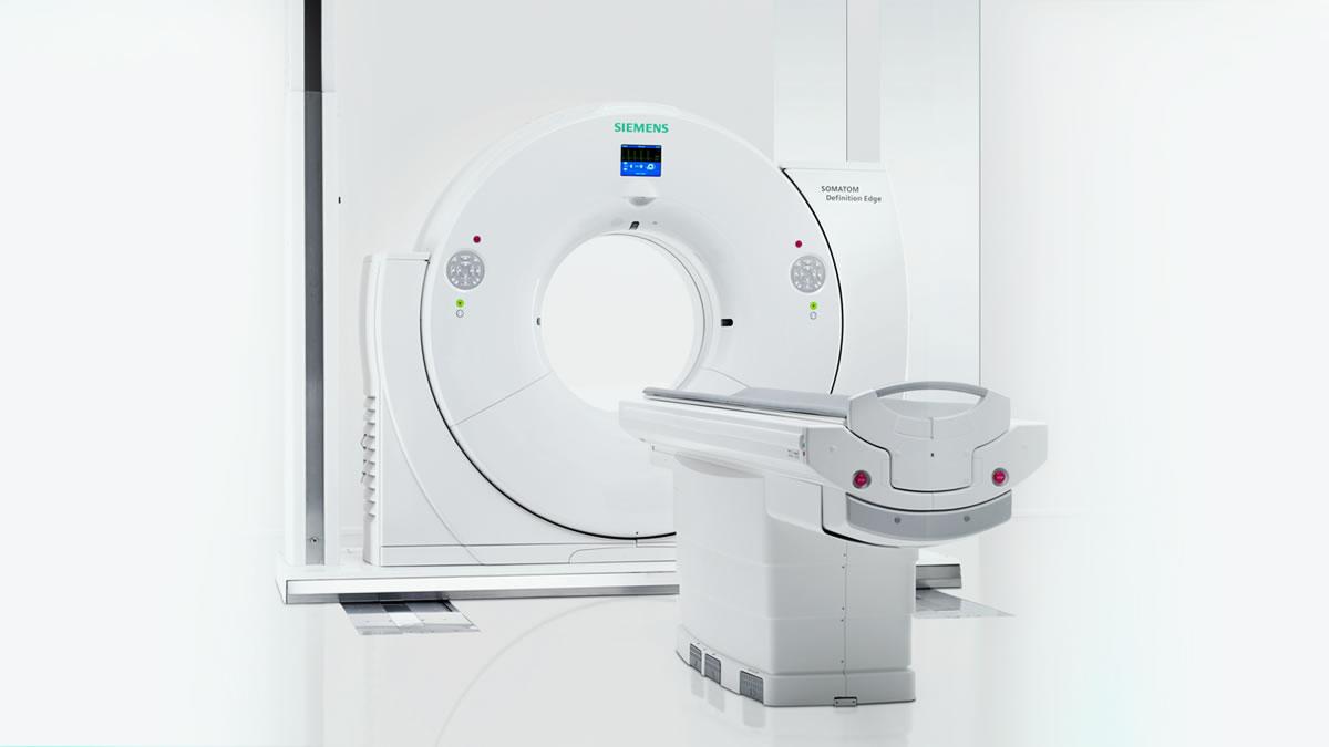 A sliding gantry brings vital diagnostics equipment to the patient
