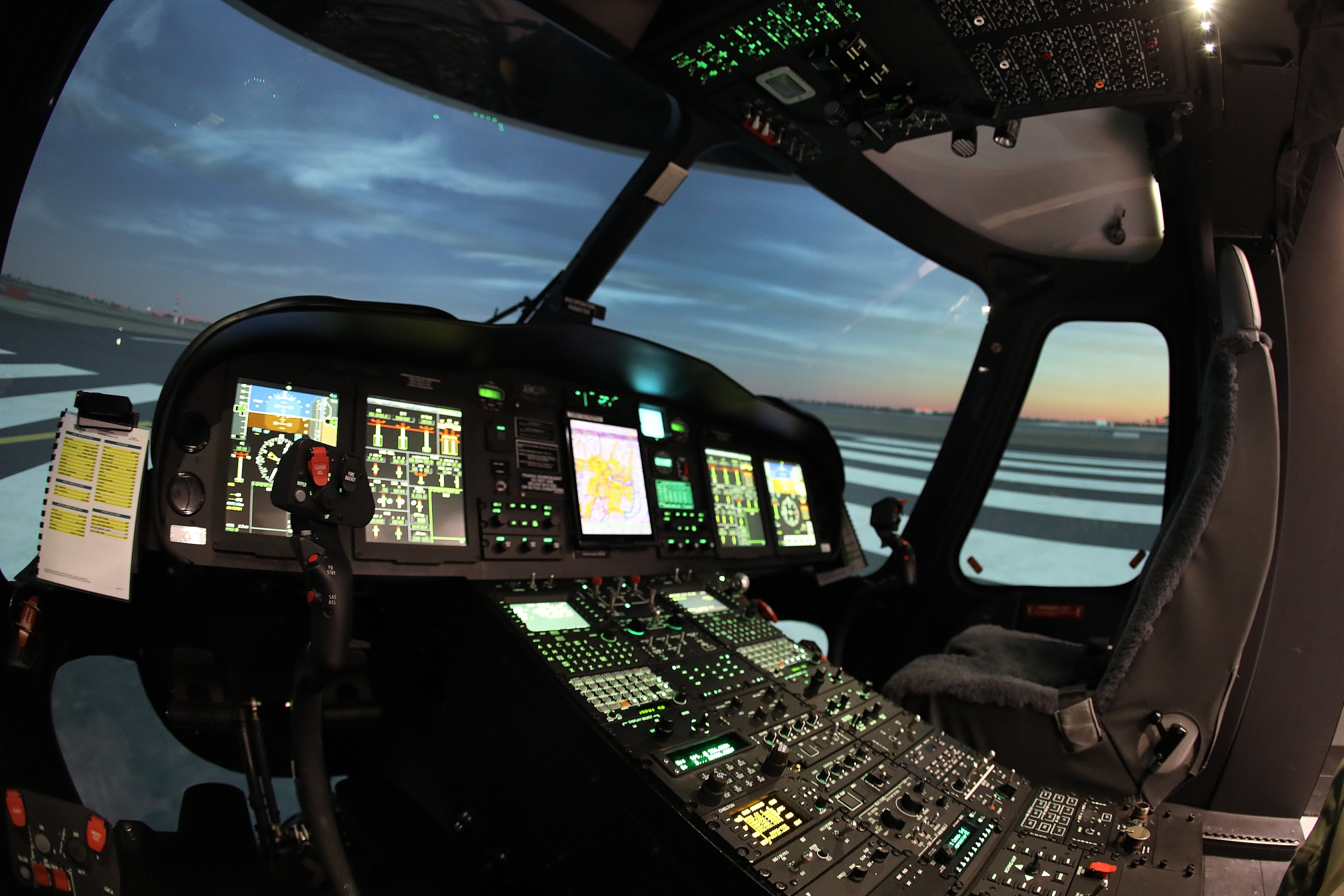 Agusta Westland AW139 helicopter simulator