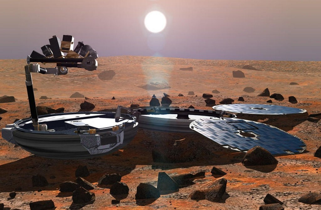 Artist impression of Beagle 2 on Mars