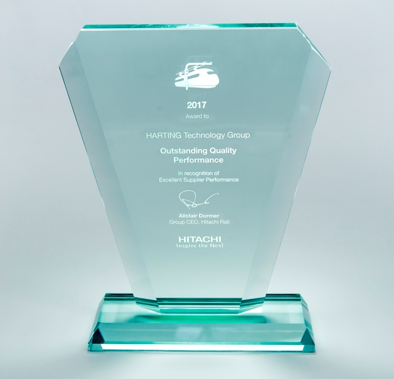 Award for exceptional quality from rail manufacturer Hitachi Rail