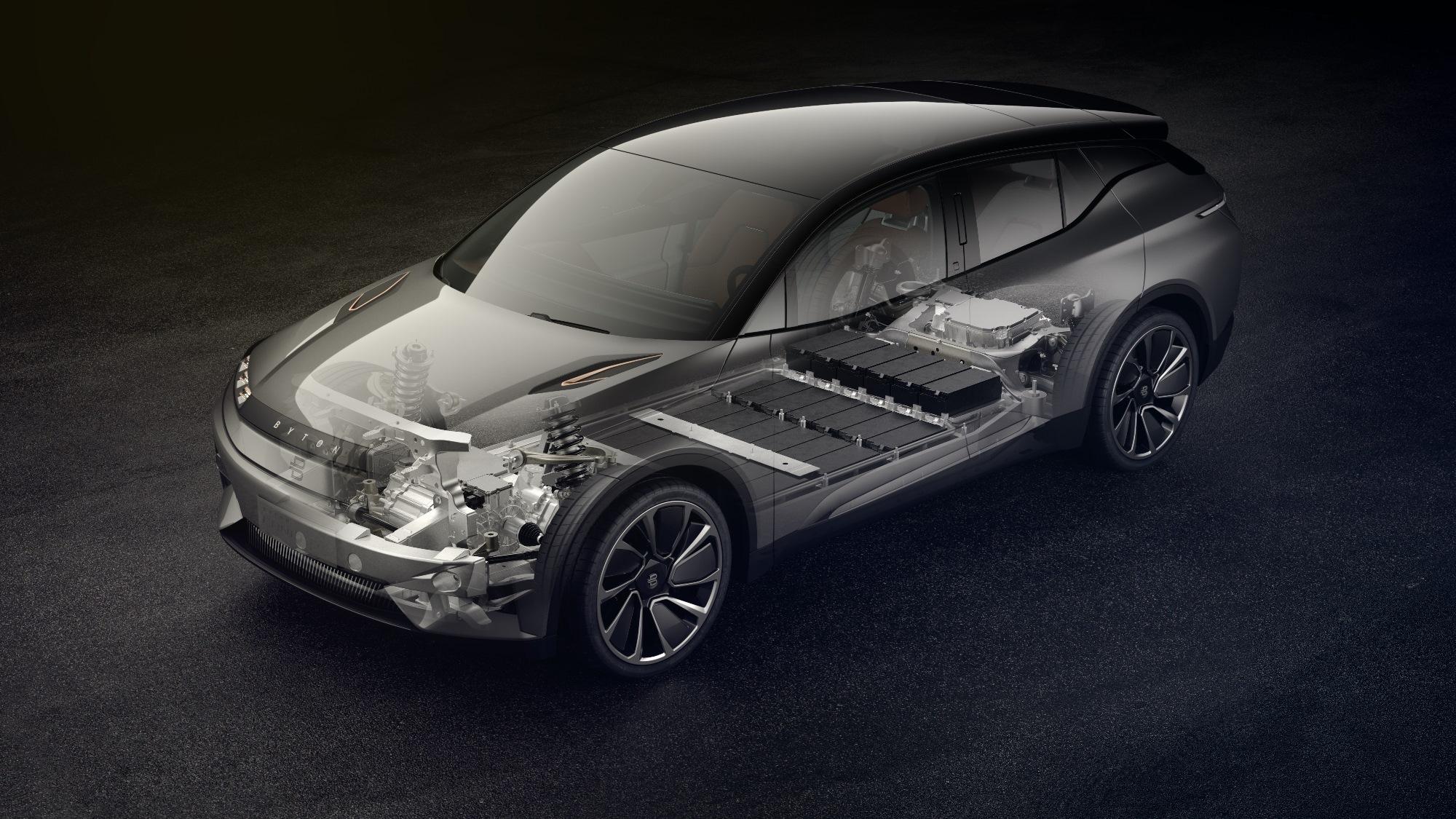 Byton concept vehicle powertrain