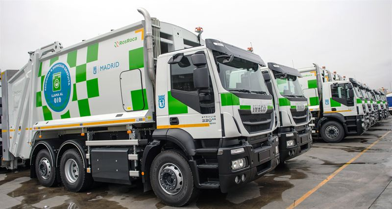 CNG waste collection vehicles for Madrid