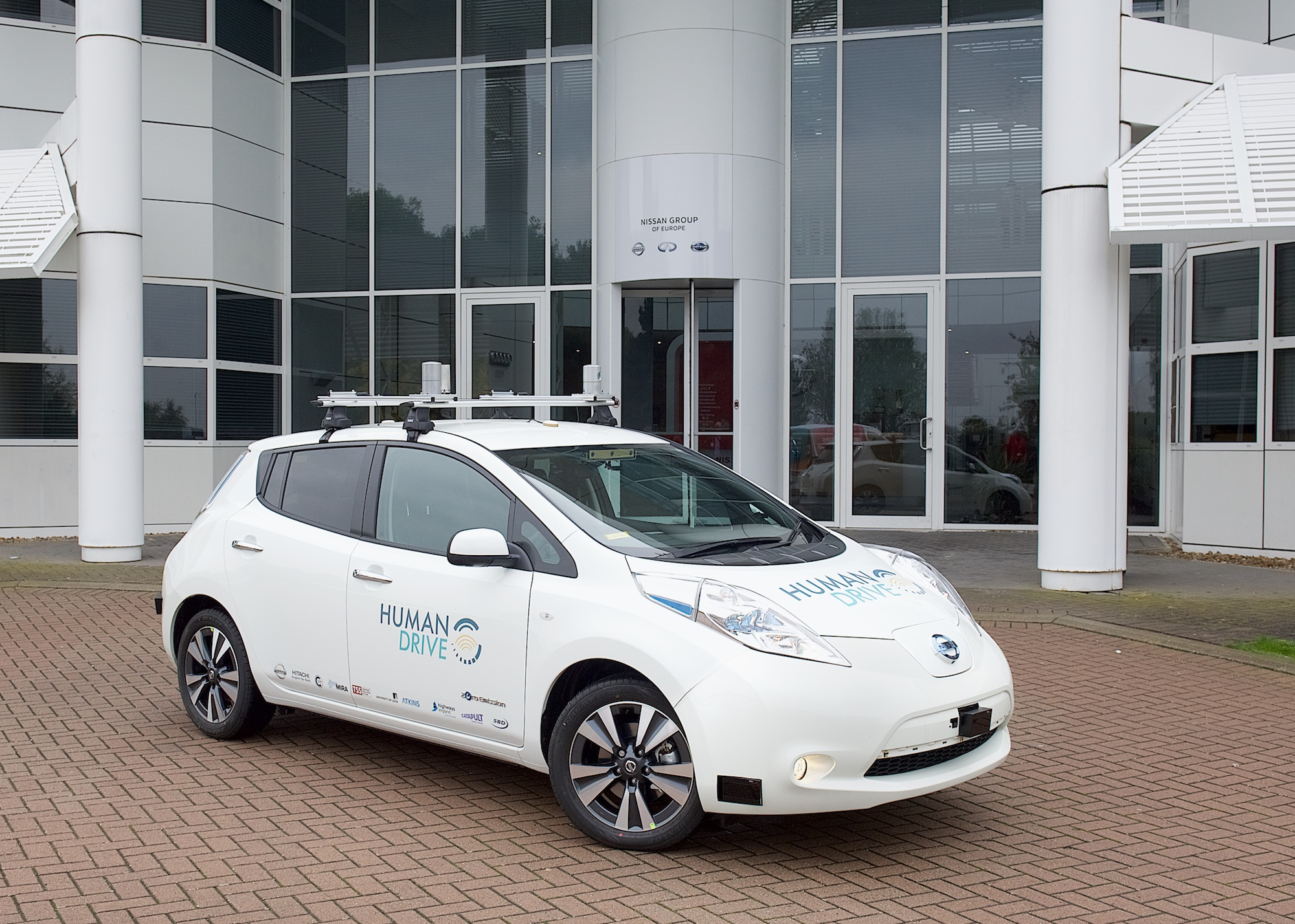 Car used in the HumanDrive autonomous vehicle project
