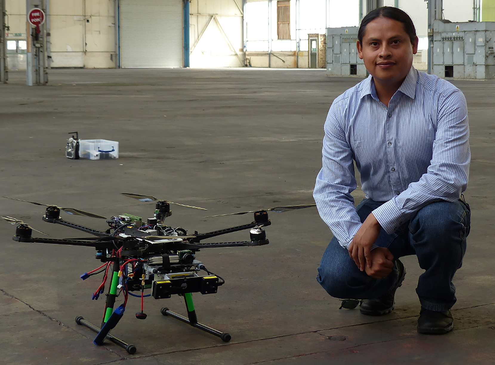 Drone manufactured by Blue Bear Systems Research Ltd