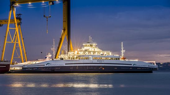 Efficient LED lighting for car ferries