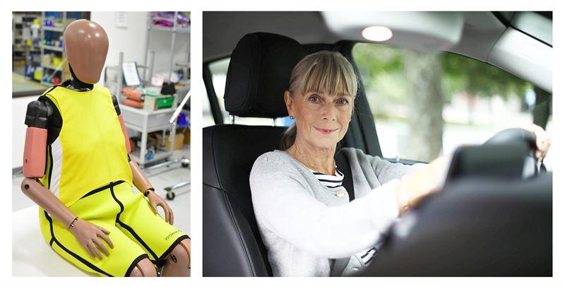 Elderly female crash test dummy developed for aging population