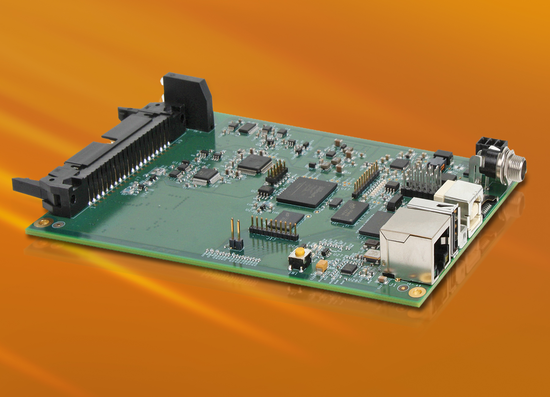 Embedded DAQ module with ARM processor and 8X 400kHz analogue inputs