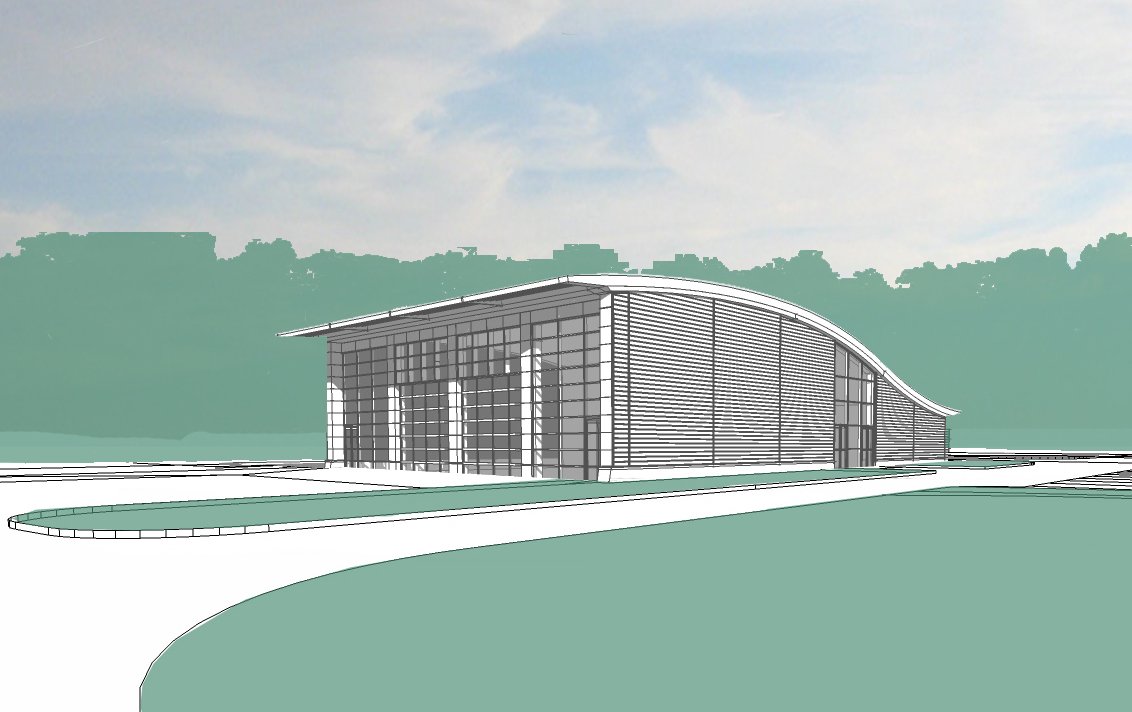 External 3d sketch view of new facility at Millbrook Technology Park