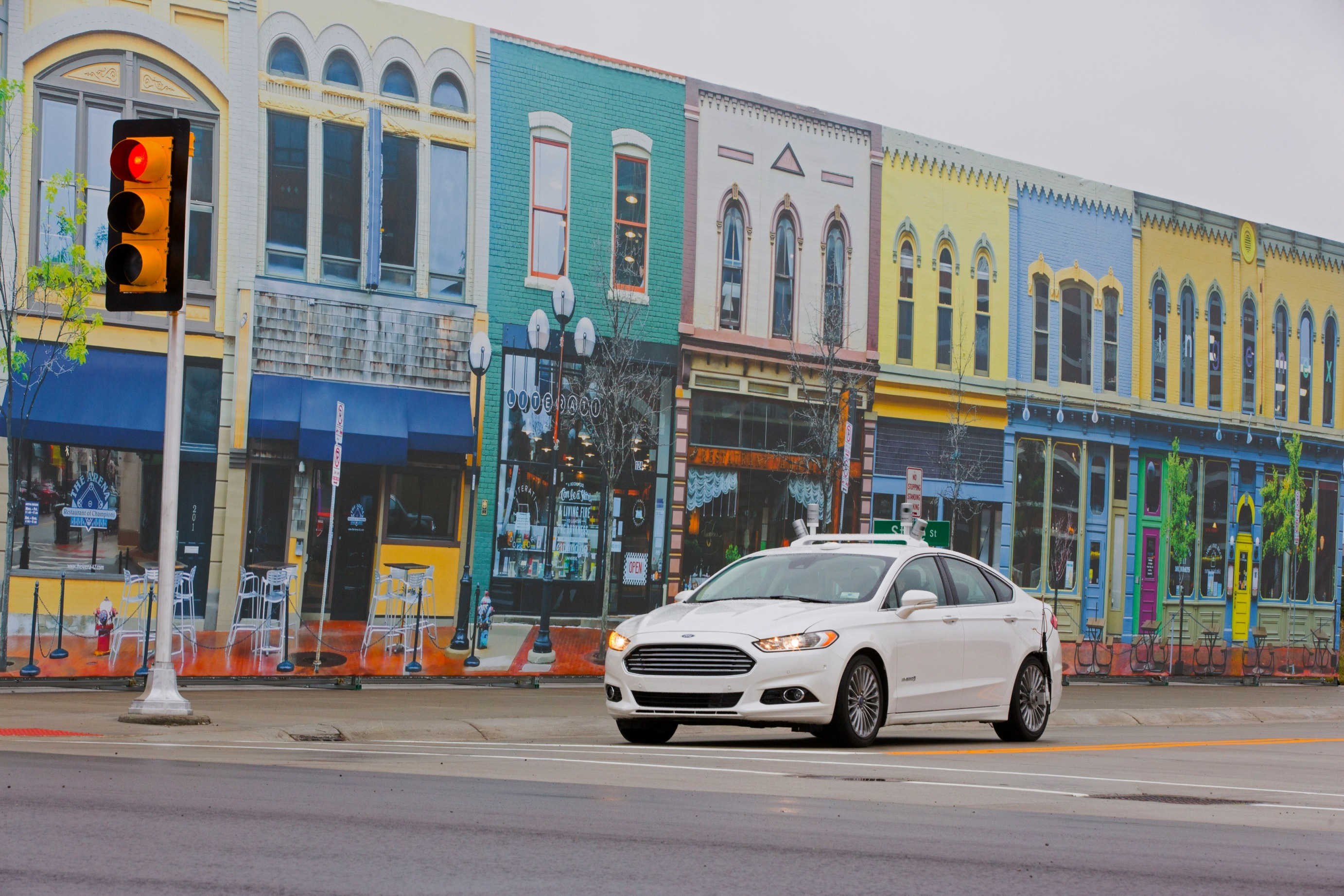 Ford hybrid autonomous fusion vehicle under test