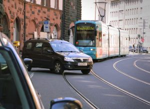 Forward collision warning system for trams