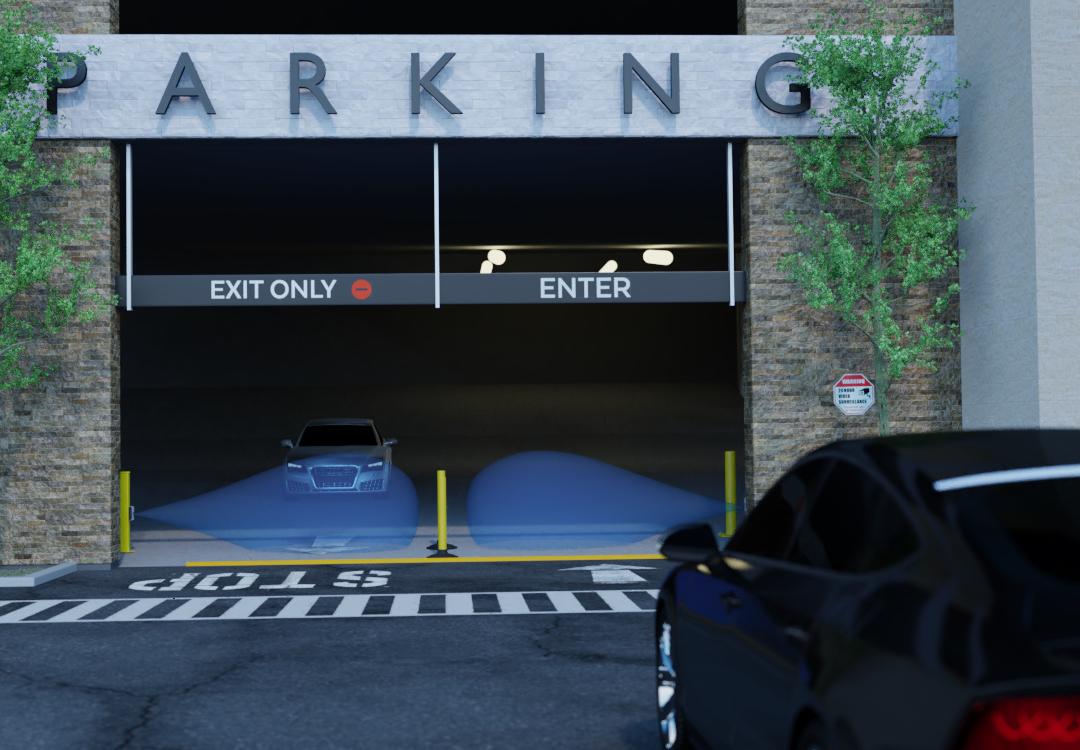 Gate activation vehicle sensors
