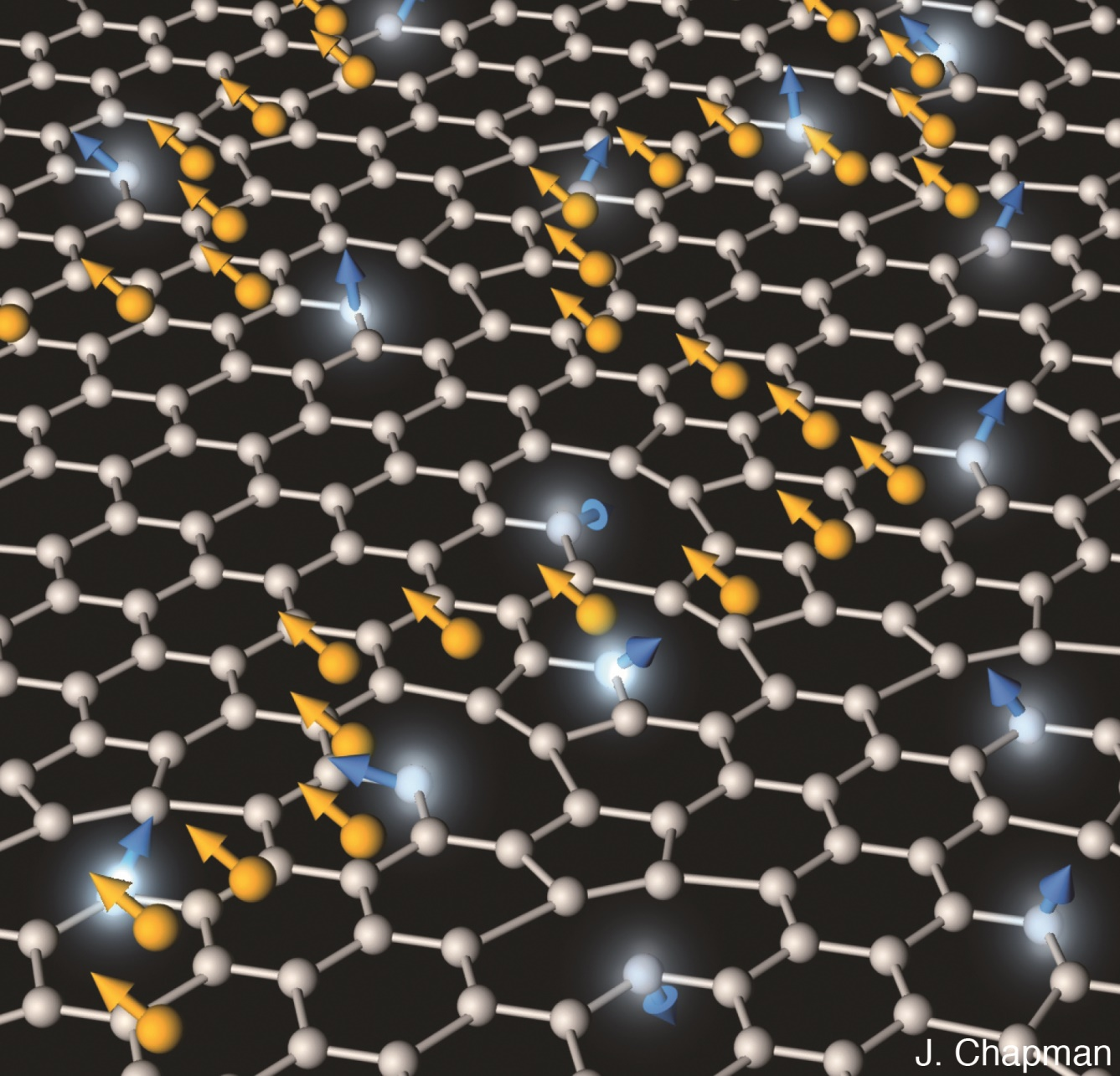 Graphene magnetic clouds