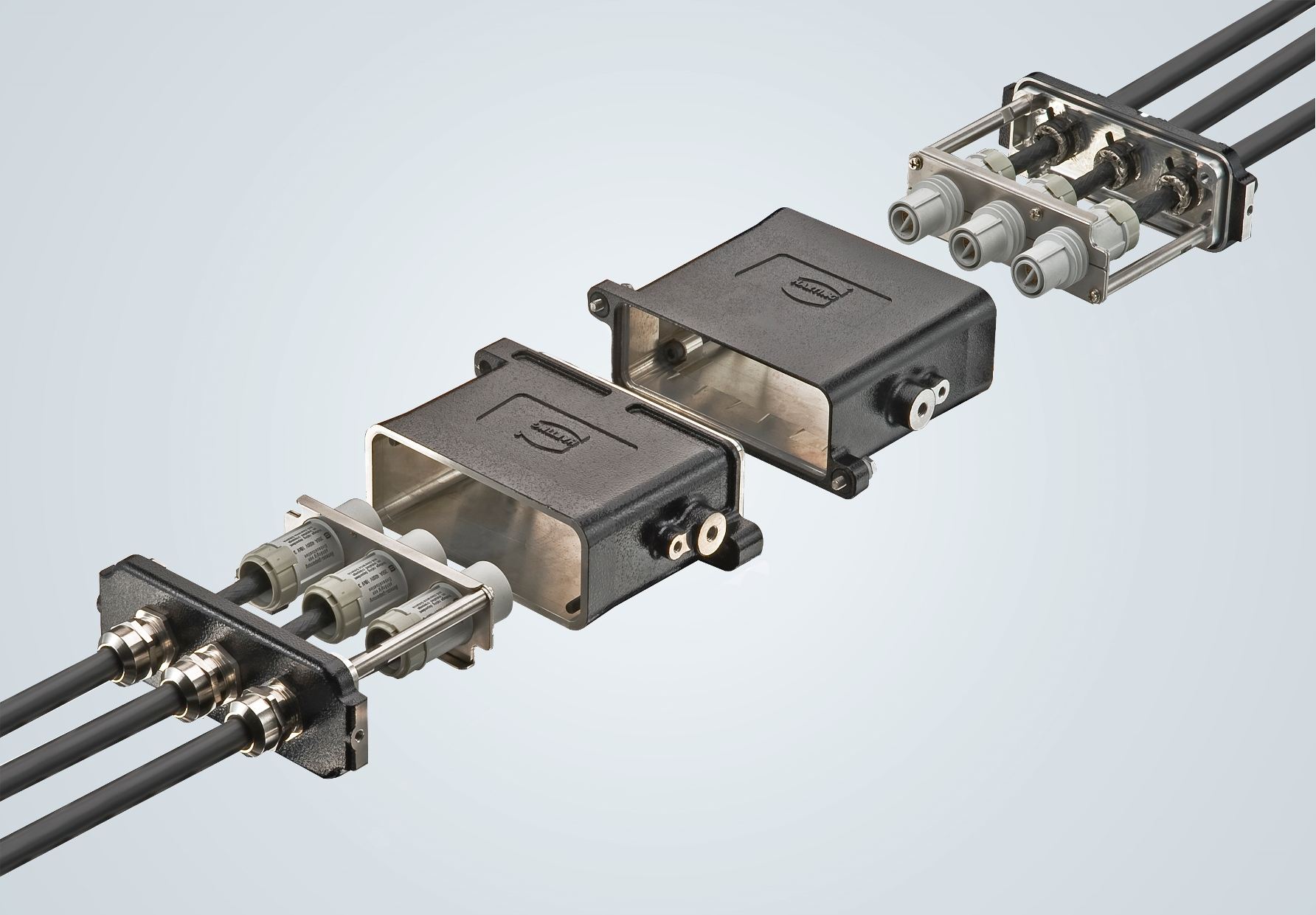 Han 16 HPR EasyCon small connectors for railways
