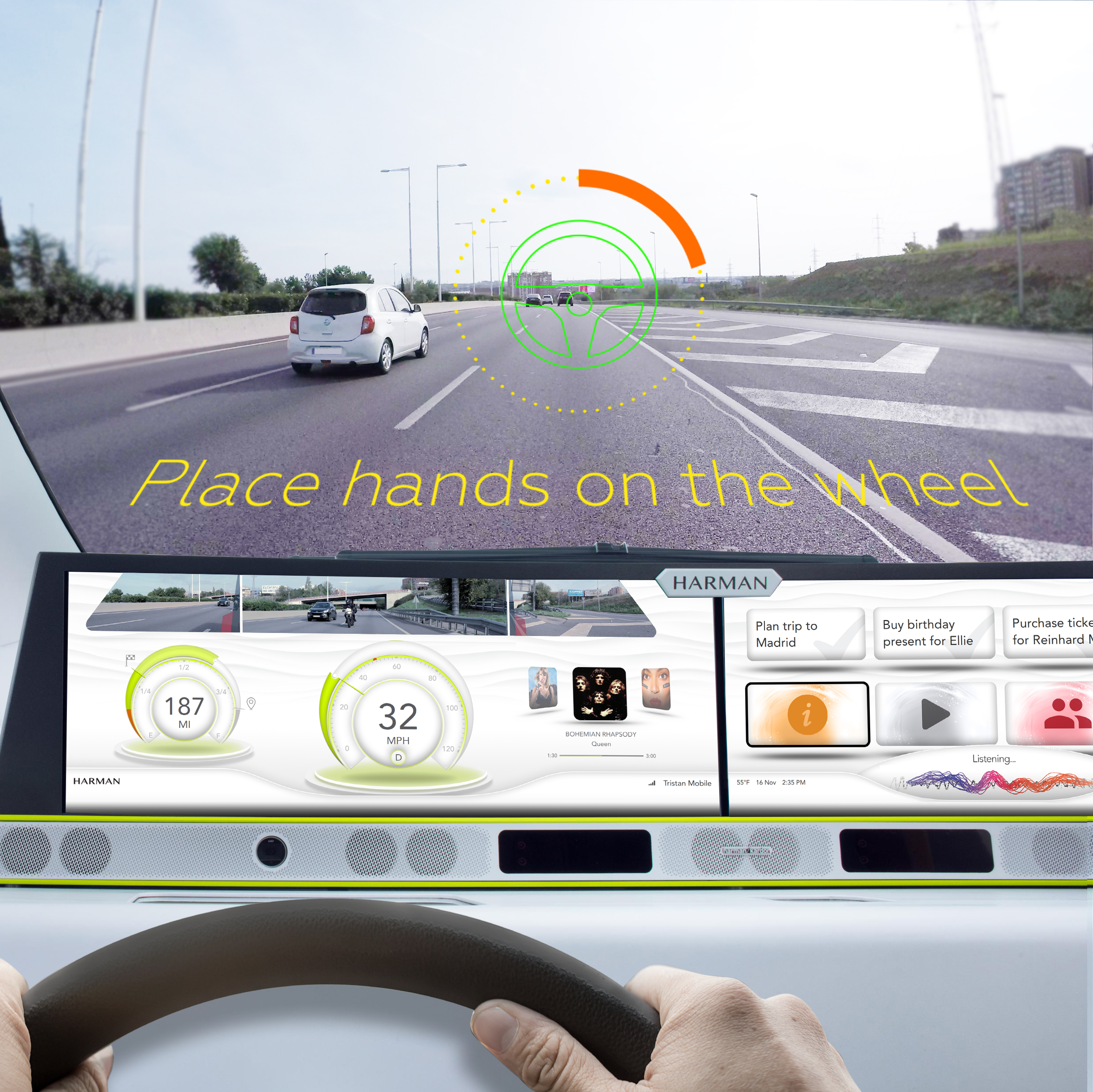 Harman driver interaction with autonomous vehicle