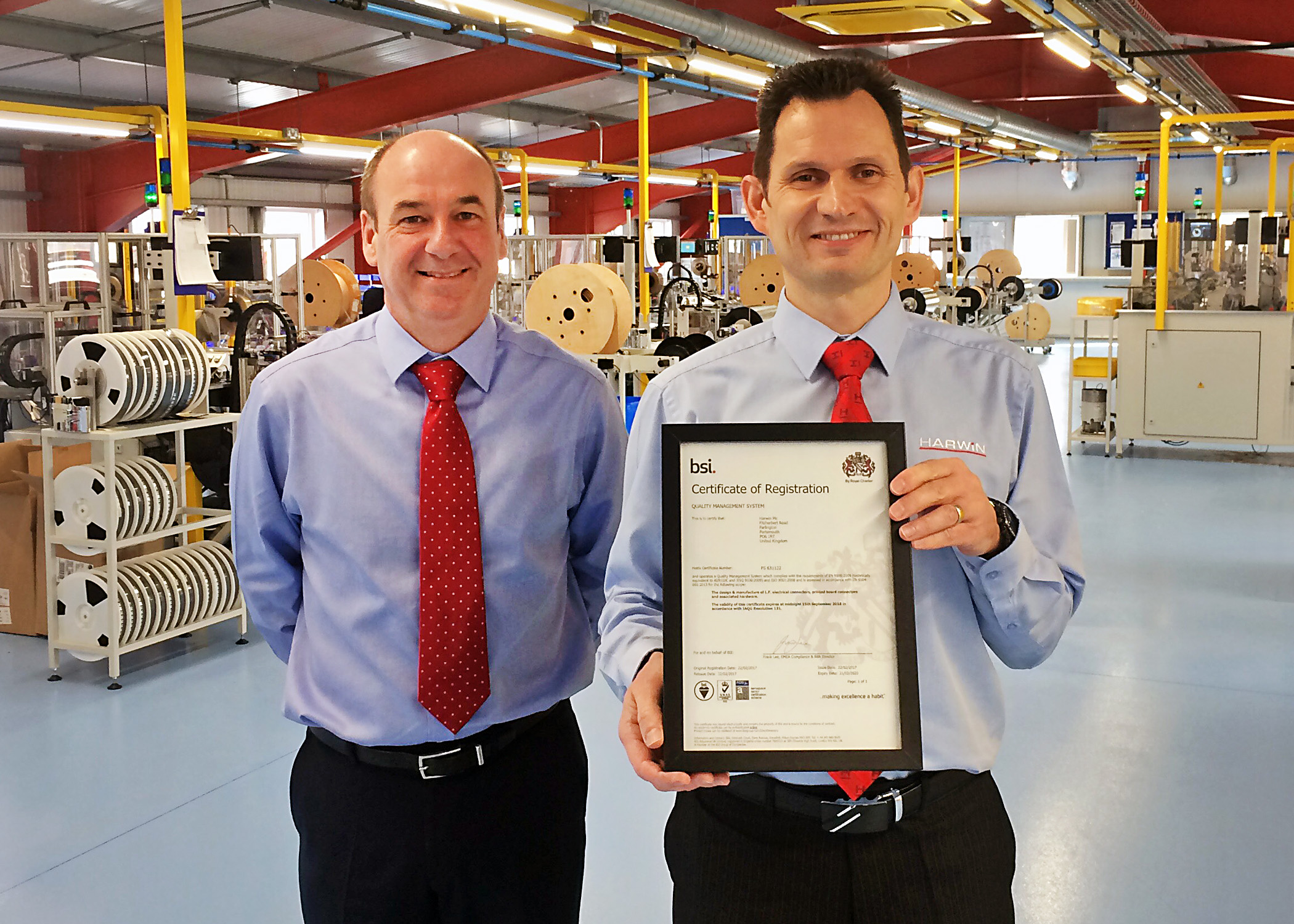 Harwin gains EN 9100 certification