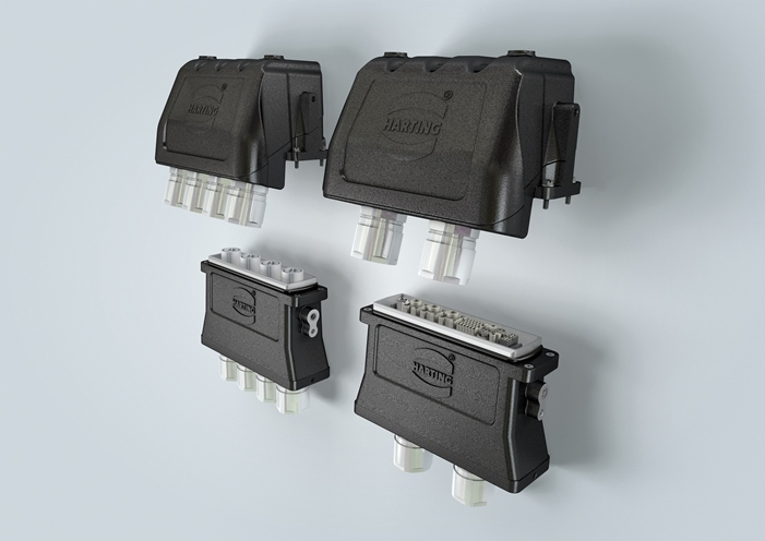 High current and big data stream connector for rail technology