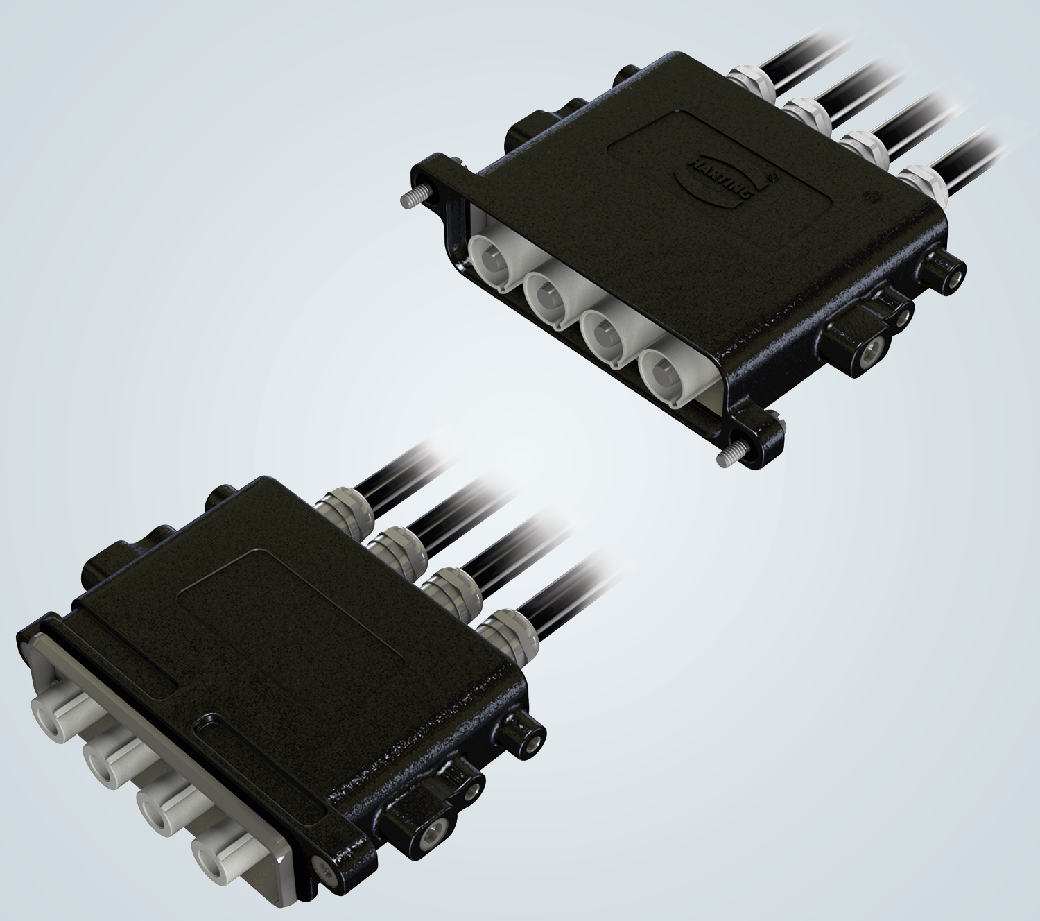 High current connector for transport applications