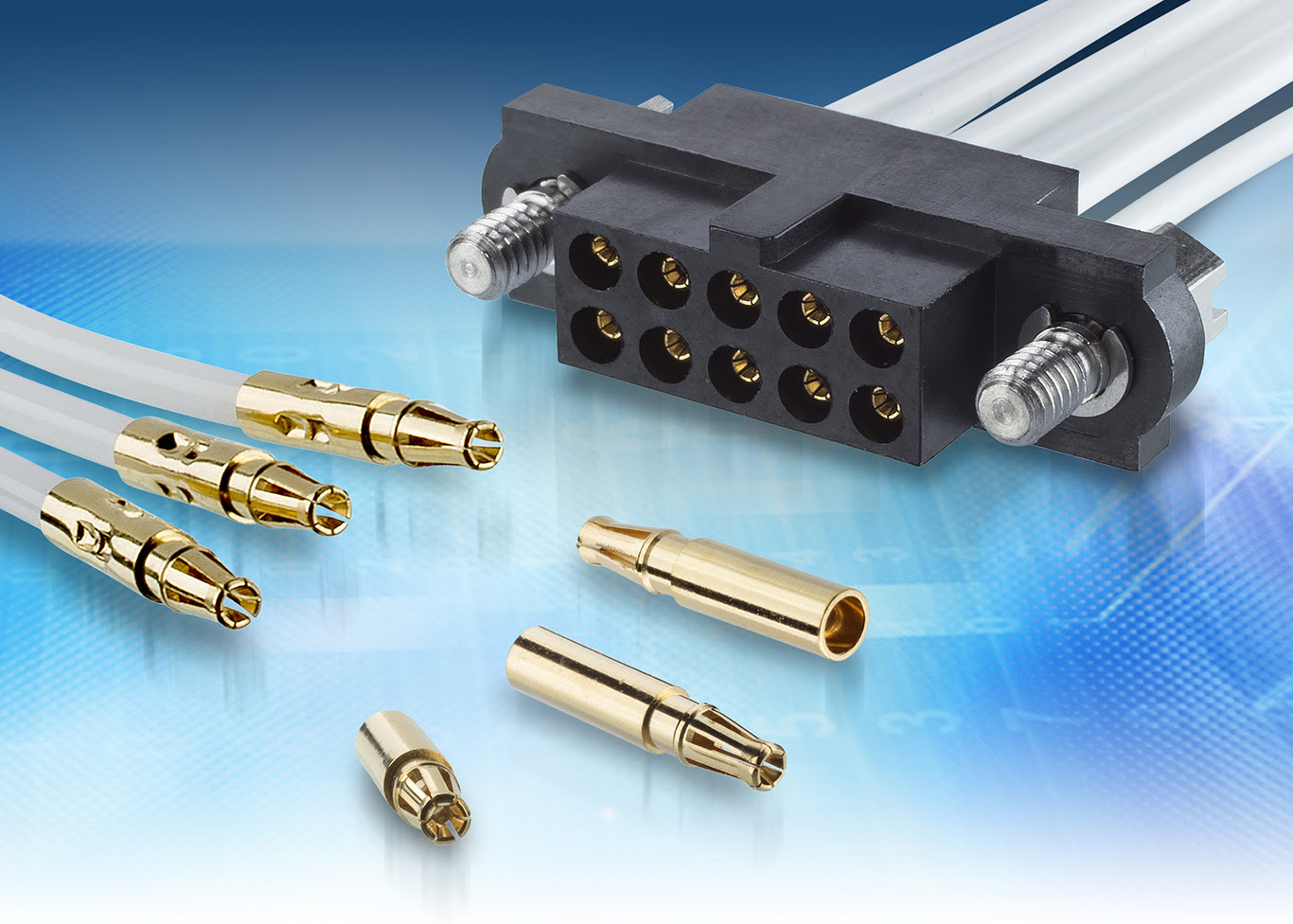 High power delivery Datamate connector