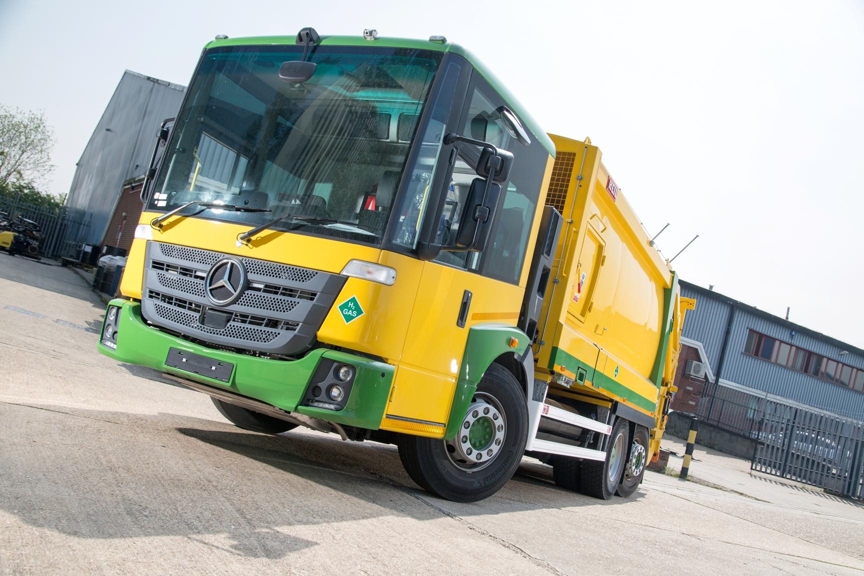 Hydrogen dual-fuel bin lorry