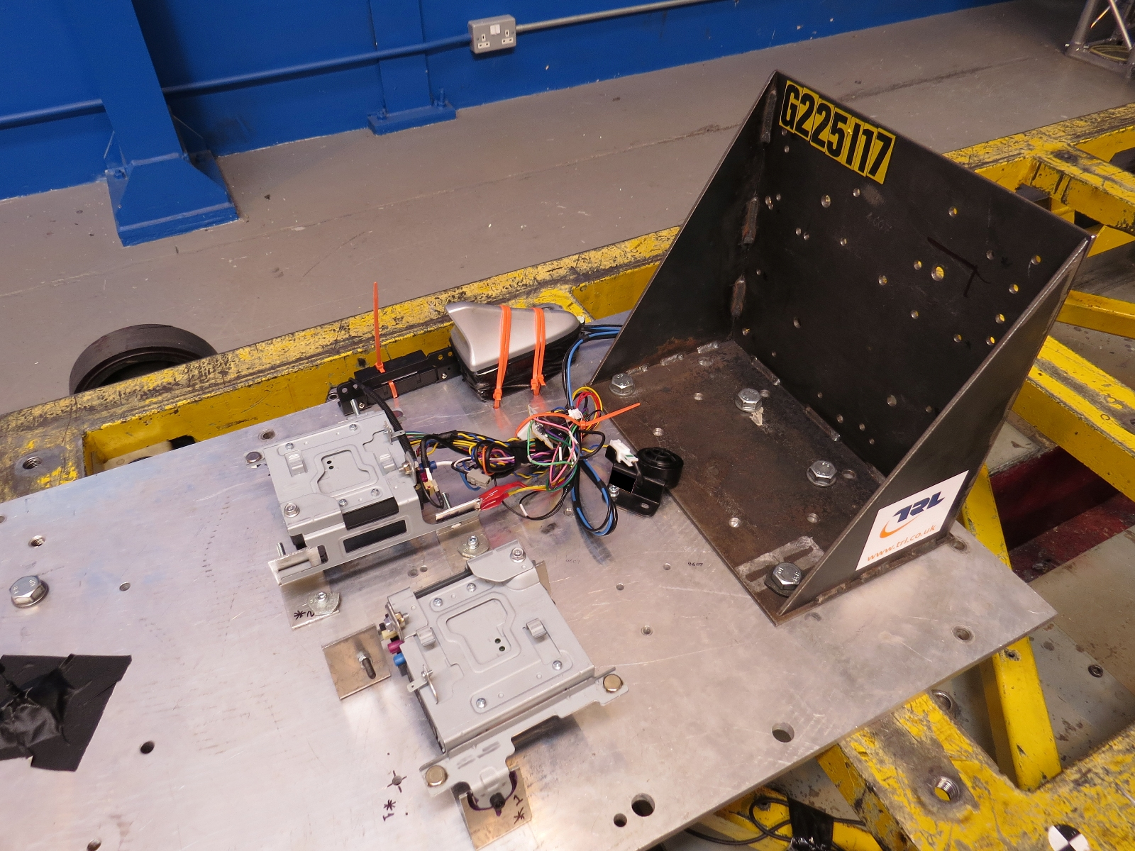 IVU in position for sled testing