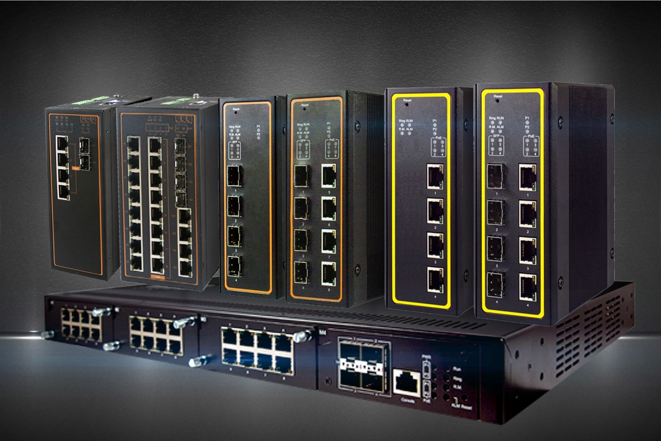 Industrial Ethernet switches for harsh environments