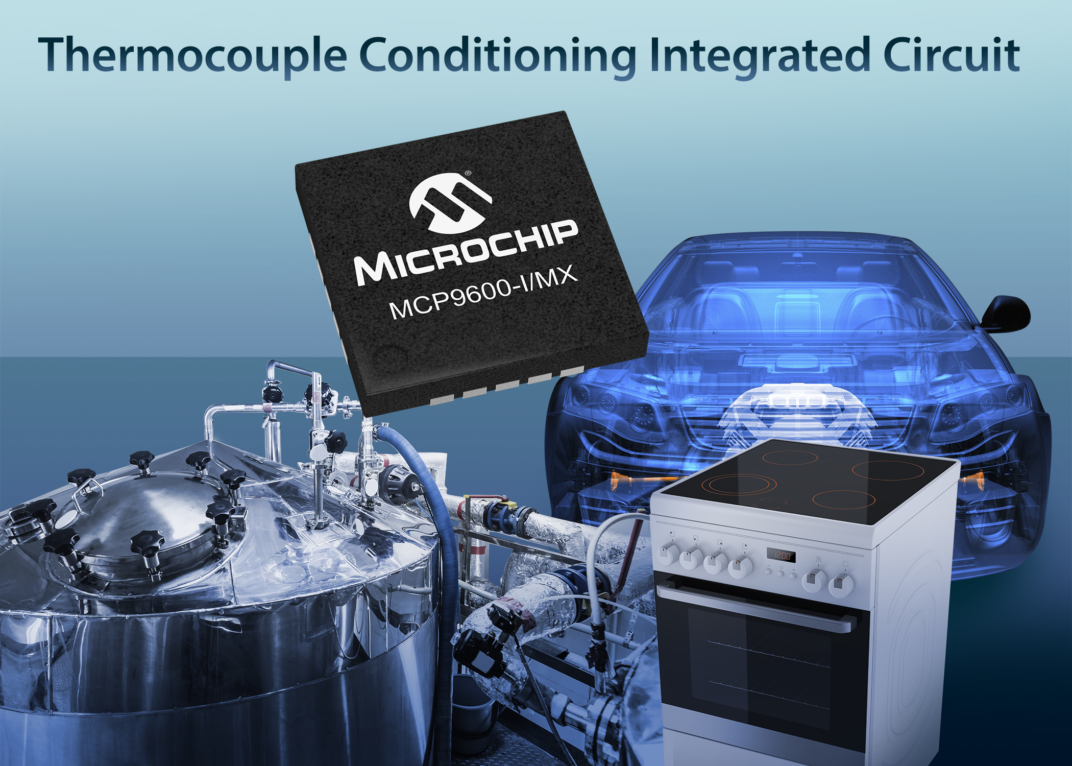 Integrated thermocouple converter