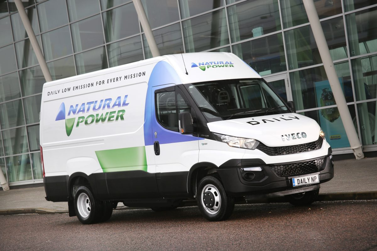 Iveco Daily Natural Power for use with compressed natural gas (CNG) or compressed bio-methane (CBM)
