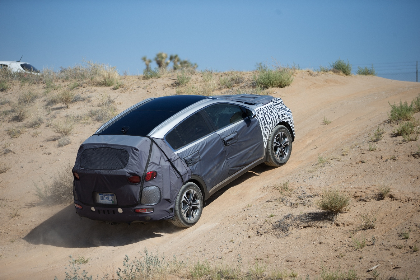 Kia Sportage in Mojave desert proving grounds