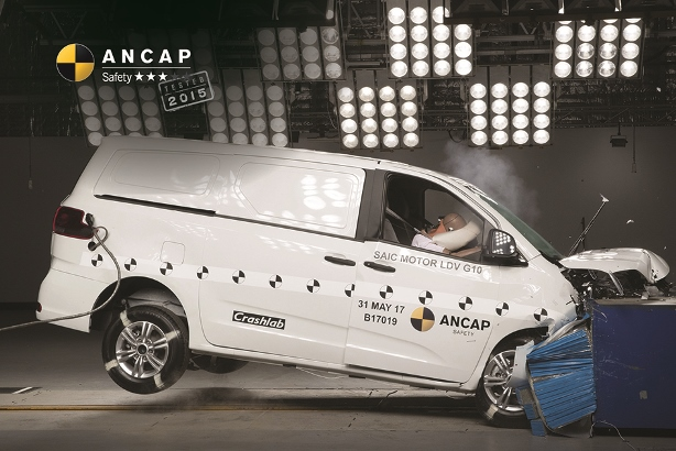 LDV G10 gains just 3-star safety rating from ANCAP