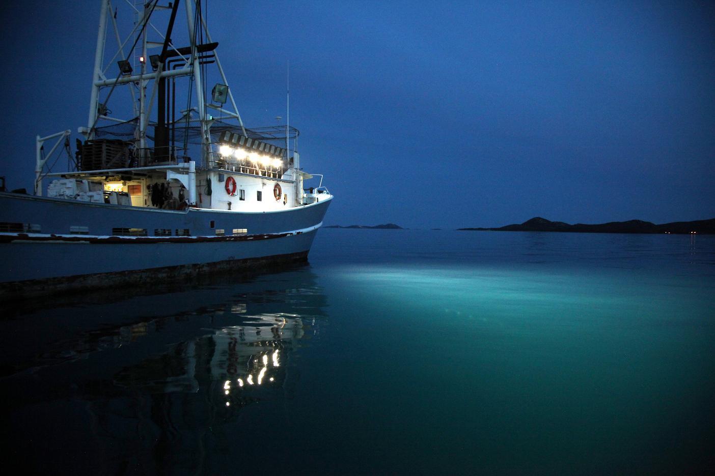 LED floodlights on Croatian fishing vessel