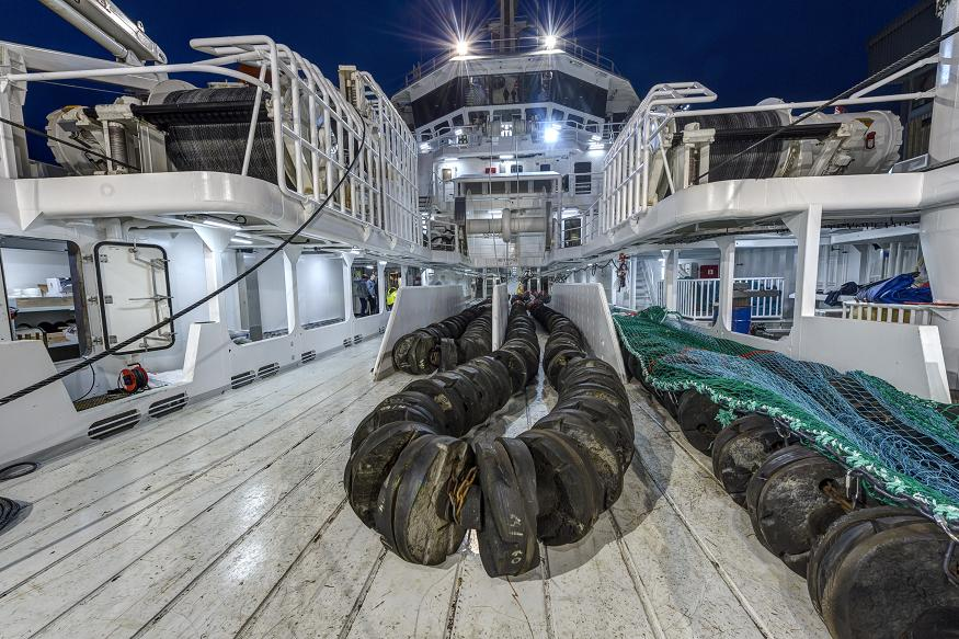 LED lighting enhances illumination on freezer trawler