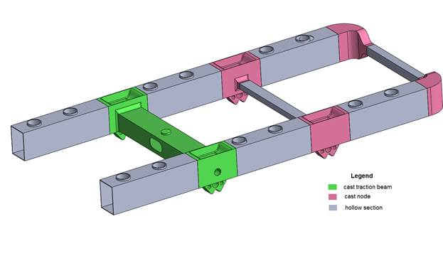 Lightweight bogie could result in larger freight loads