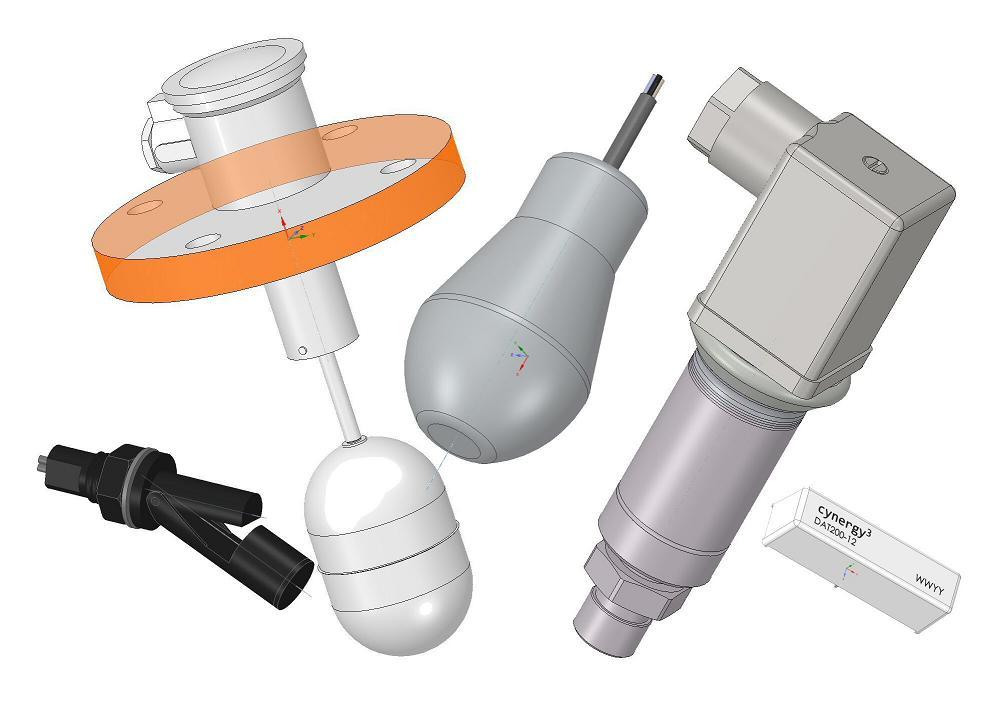 Liquid flow sensor 3D models