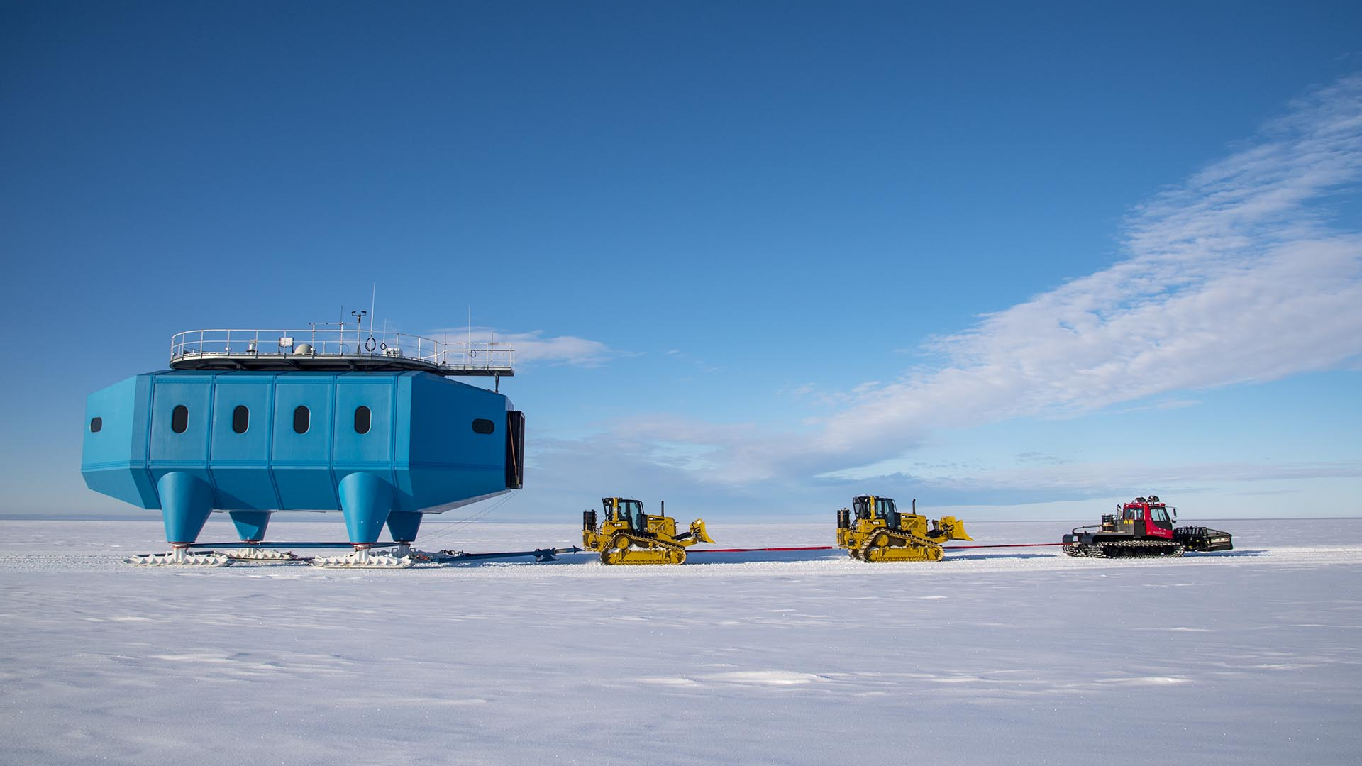 Load monitoring equipment supports Halley Research Station