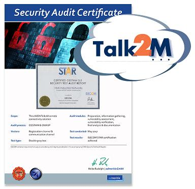 M2M industrial network security certification