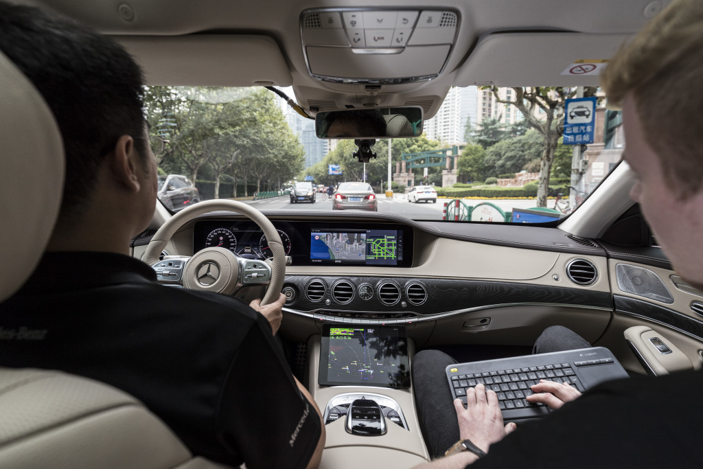 Mercedes-Benz Intelligent World Drive test in Shanghai