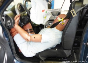 Microcar M.GO Euro NCAP frontal impact test result