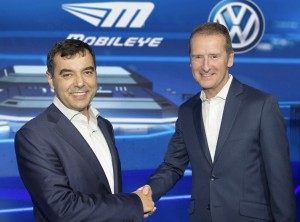 Mobileye and VW forge partnership at CES 2016