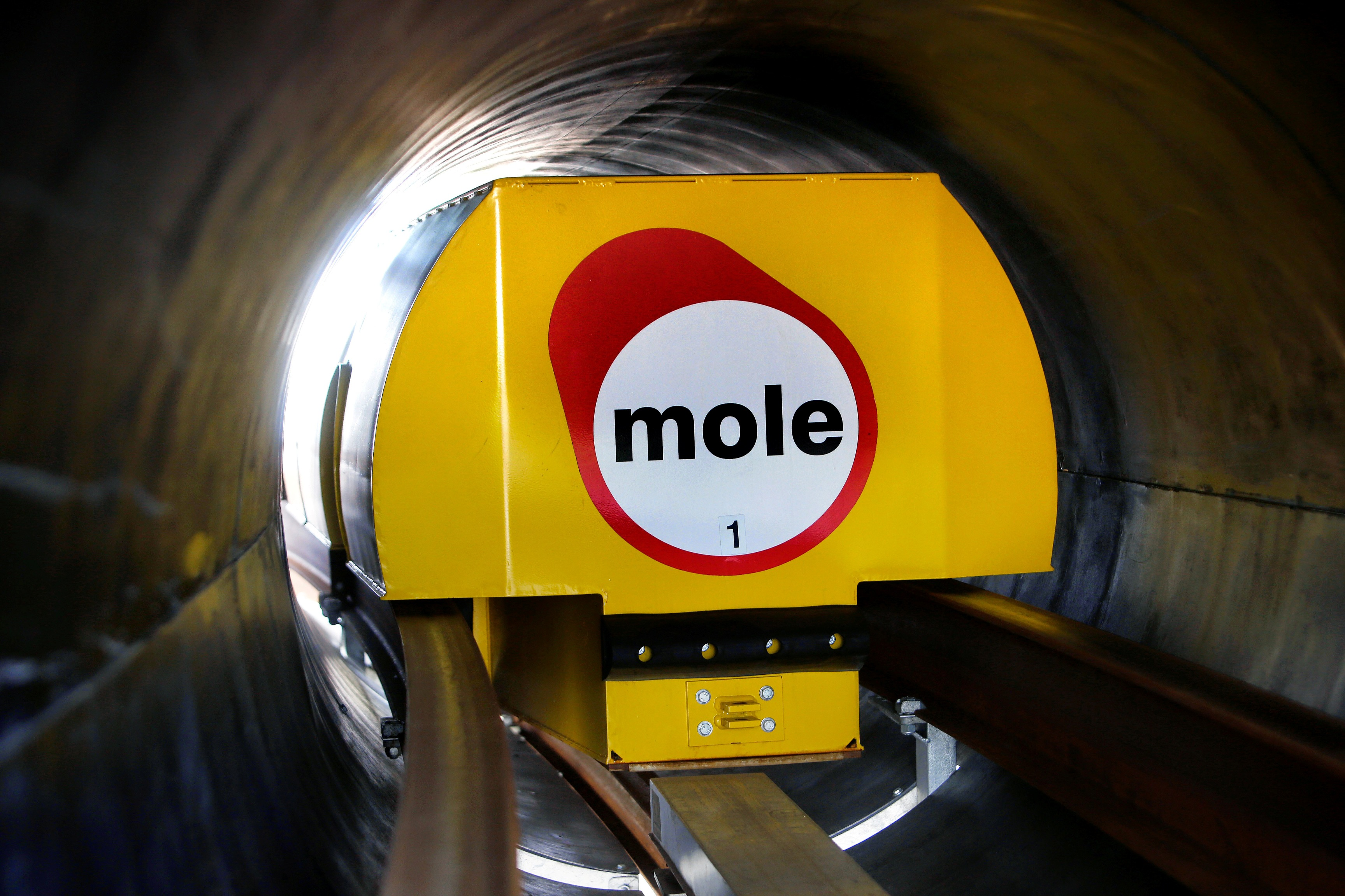 Mole Solutions freight pipeline track