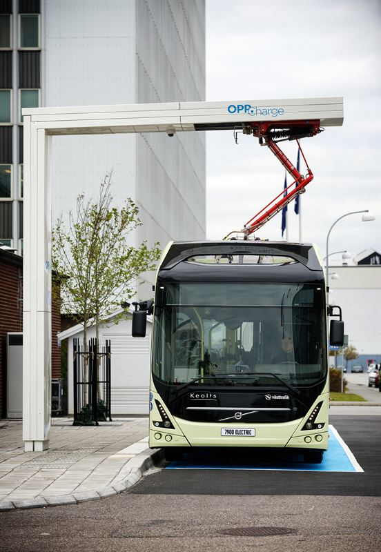 OppCharge charging station inaugurated in Gothenburg