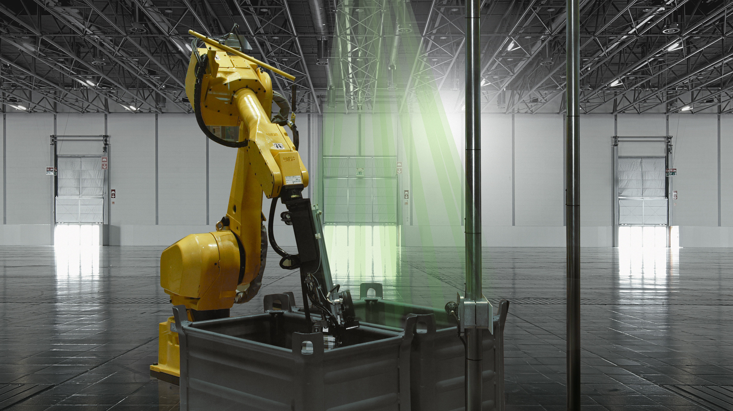 Optical recognition for cleanroom robots