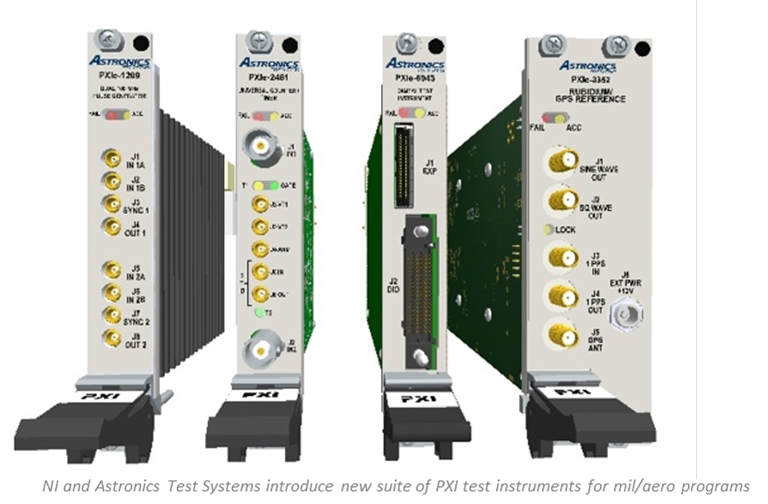 PXI test instruments for military and aviation programmes
