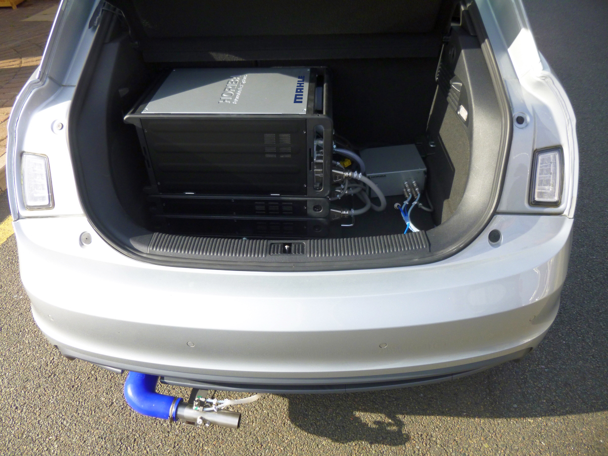 Portable Emissions Measurement System PEMS kit in vehicles