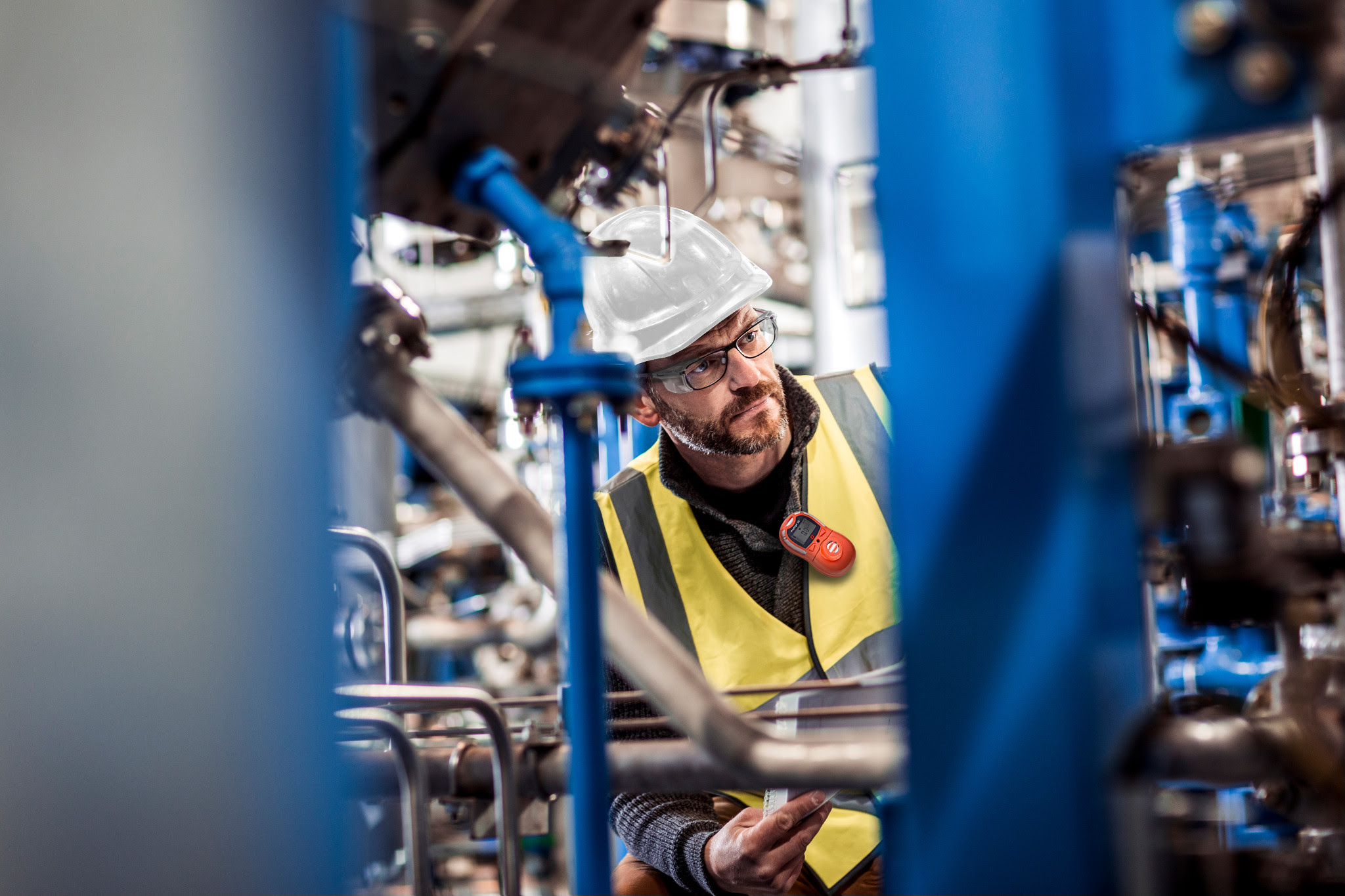 Portable gas detector keeps workers safe